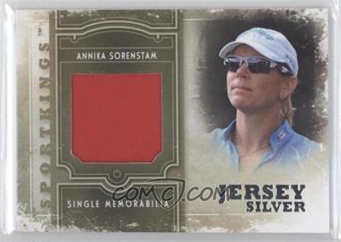 2012 Sportkings Series E Single Memorabilia Silver Jersey #SM-18 - Annika Sorenstam