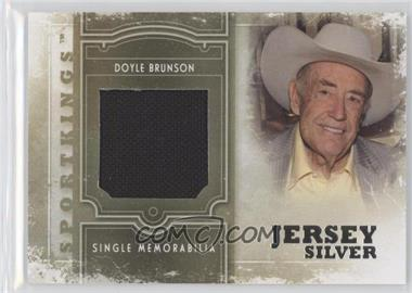 2012 Sportkings Series E Single Memorabilia Silver Jersey #SM-19 - Doyle Brunson