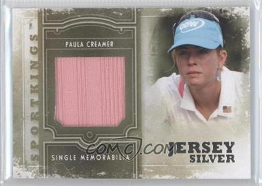 2012 Sportkings Series E Single Memorabilia Silver Jersey #SM-20 - Paula Creamer