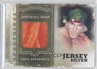 2012 Sportkings Series E Single Memorabilia Silver Jersey #SM-21 - Superstar Billy Graham