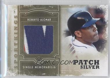 2012 Sportkings Series E Single Memorabilia Silver Patch #SM-01 - Roberto Alomar