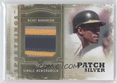 2012 Sportkings Series E Single Memorabilia Silver Patch #SM-04 - Rickey Henderson
