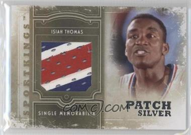 2012 Sportkings Series E Single Memorabilia Silver Patch #SM-11 - Isiah Thomas