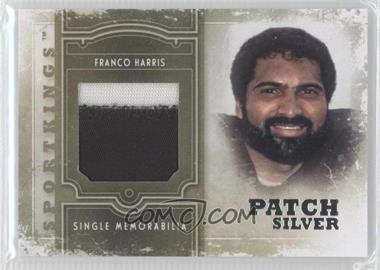 2012 Sportkings Series E Single Memorabilia Silver Patch #SM-14 - Franco Harris