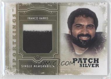 2012 Sportkings Series E Single Memorabilia Silver Patch #SM-14 - Franco Harris /9