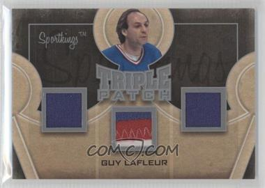 2012 Sportkings Series E Triple Patch Silver #TP-08 - Guy Lafleur