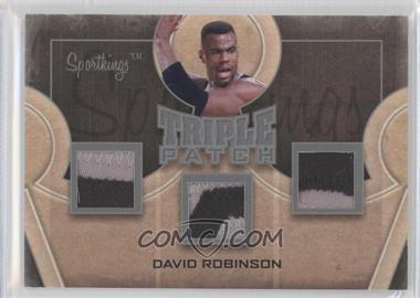2012 Sportkings Series E Triple Patch Silver #TP-11 - David Robinson