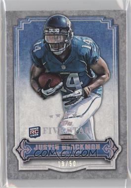 2012 Topps Five Star Club [???] #FSC-9 - Justin Blackmon /50