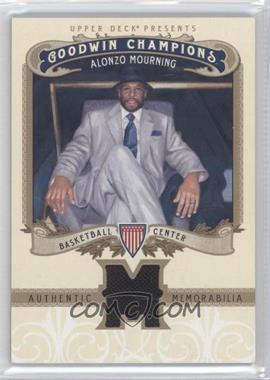 2012 Upper Deck Goodwin Champions - Authentic Memorabilia #M-AM - Alonzo Mourning