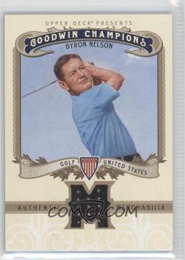 2012 Upper Deck Goodwin Champions - Authentic Memorabilia #M-BN - Byron Nelson