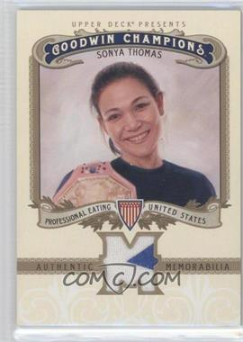 2012 Upper Deck Goodwin Champions - Authentic Memorabilia #M-ST - Sonya Thomas