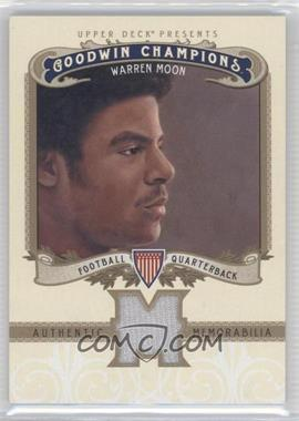 2012 Upper Deck Goodwin Champions - Authentic Memorabilia #M-WM - Warren Moon