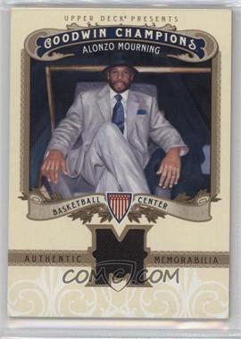 2012 Upper Deck Goodwin Champions Authentic Memorabilia #M-AM - Alonzo Mourning