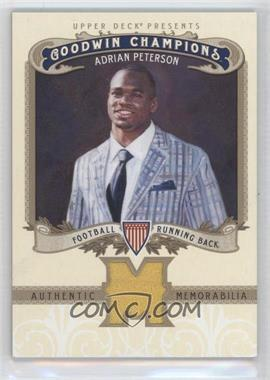 2012 Upper Deck Goodwin Champions Authentic Memorabilia #M-AP - Adrian Peterson