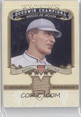 2012 Upper Deck Goodwin Champions Authentic Memorabilia #M-JJ - Shoeless Joe Jackson
