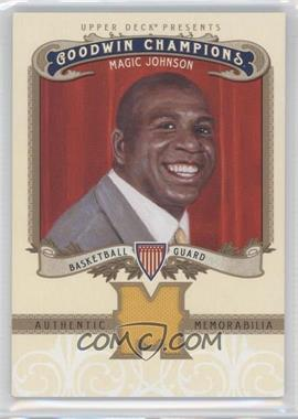 2012 Upper Deck Goodwin Champions Authentic Memorabilia #M-JO - Magic Johnson
