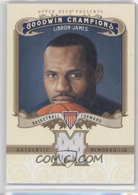 2012 Upper Deck Goodwin Champions Authentic Memorabilia #M-LJ - LeBron James