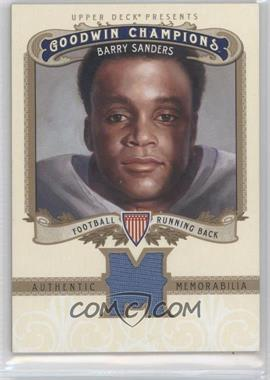 2012 Upper Deck Goodwin Champions Authentic Memorabilia #M-SA - Barry Sanders