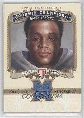 2012 Upper Deck Goodwin Champions Authentic Memorabilia #M-SA - Barry Sanders