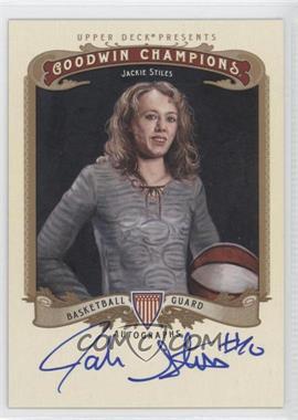 2012 Upper Deck Goodwin Champions Autographs #A-JS - Jackie Stiles