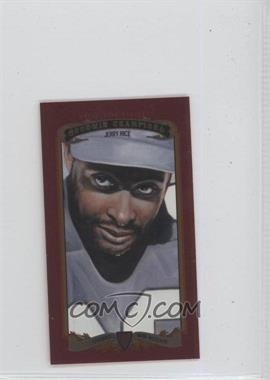 2012 Upper Deck Goodwin Champions Minis Red Foil Magician Back #39 - Jerry Rice /12