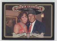 Ernie Banks (horizontal variation with wife Liz Banks)
