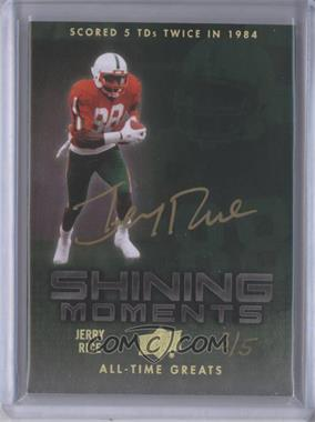 2012 Upper Deck UD All-Time Greats - Shining Moments #SM-JR2 - Jerry Rice /5