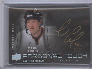 2012 Upper Deck UD All-Time Greats Personal Touch Autographs #PT-ML5 - Mario Lemieux /5
