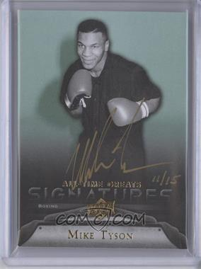 2012 Upper Deck UD All-Time Greats Signatures #GA-MT5 - Mike Tyson /15