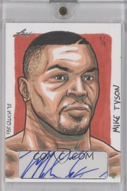 2013 Leaf Masterworks Autographed Sketch Cards #FGMT - Fer Galicia (Mike Tyson) /1