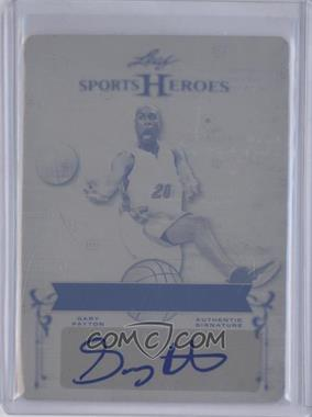 2013 Leaf Sports Heroes Springfield's Finest Printing Plate Black #SF-1 - Gary Payton /1