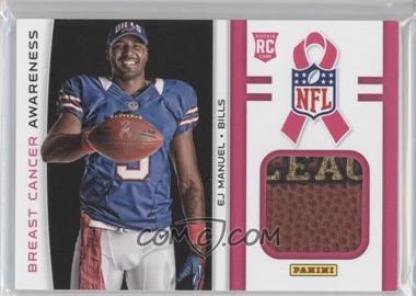 2013 Panini Black Friday Breast Cancer Awareness Relics #BCA4 - EJ Manuel