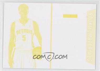 2013 Panini Black Friday Rookie Materials Color Proof Yellow #BK7 - Kentavious Caldwell-Pope