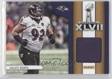 2013 Panini Black Friday Super Bowl XLVII Memorabilia #SB5 - Haloti Ngata