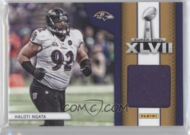 2013 Panini Black Friday Super Bowl XLVII Memorabilia #SB5 - Haloti Ngata