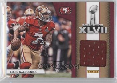 2013 Panini Black Friday Super Bowl XLVII Memorabilia #SB9 - Colin Kaepernick