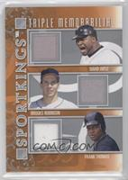 David Ortiz, Brooks Robinson, Frank Thomas /40