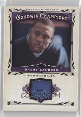 2013 Upper Deck Goodwin Champions Memorabilia #M-BS - Barry Sanders