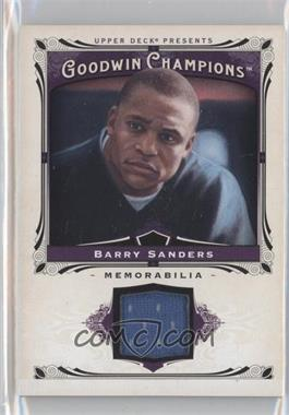 2013 Upper Deck Goodwin Champions Memorabilia #M-BS - Barry Sanders
