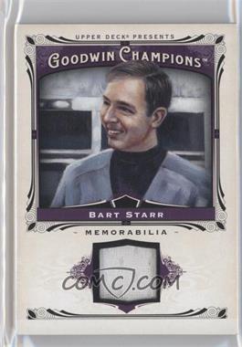 2013 Upper Deck Goodwin Champions Memorabilia #M-ST - Bart Starr