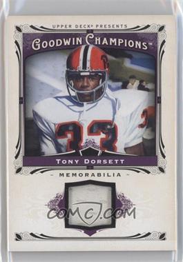2013 Upper Deck Goodwin Champions Memorabilia #M-TD - Tony Dorsett