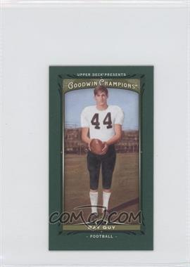 2013 Upper Deck Goodwin Champions Mini Green Lady Luck #13 - Ray Guy