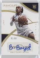 Collegiate Rookie Autographs - Brittany Boyd /99
