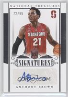 Rookie Signatures - Anthony Brown /99