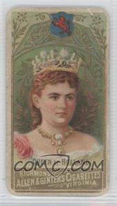 1889 Allen & Ginter World's Sovereigns Tobacco N34 #HOL - Queen of Holland [Good to VG‑EX]