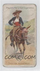1905 Player's Navy Cut Riders of the World Tobacco [Base] #13 - Spanish Muleteer [Good to VG‑EX]