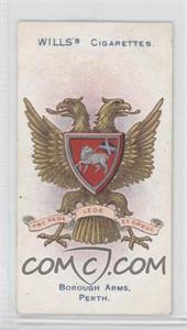 1905 Wills Borough Arms 4th Series - Tobacco [Base] #168 - Perth