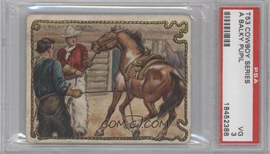 1909-12 Hassan Cowboy Series Tobacco T53 #N/A - A Balky Pupil [PSA 3]