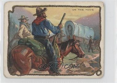 1909-12 Hassan Cowboy Series Tobacco T53 #N/A - On The Move [Good to VG‑EX]