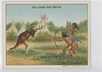 Boys Playing Deer Hunting